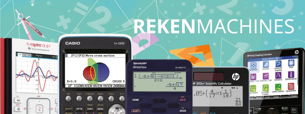 De Rekenwinkel levert alle rekenmachines van HP, Sharp, Casio en Texas Instruments