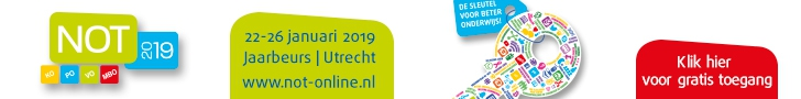 Schrijf je nu GRATIS in voor de NOT 2019 in de Jaarbeurs in Utrecht!